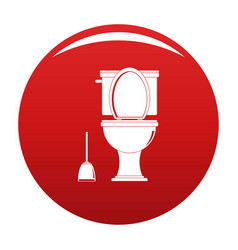 Comfort toilet icon red vector