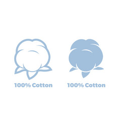 cotton 100 percent natural textile label vector image