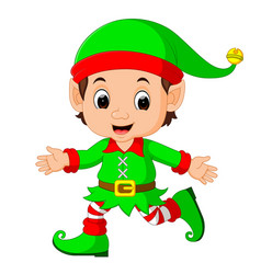Cute elf cartoon vector