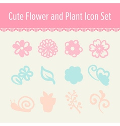 Cute pastel beauty and make up cartoon icon set vector