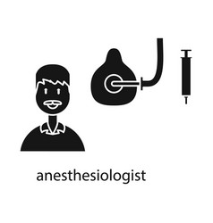 Design anesthesiologist and doctor sign vector