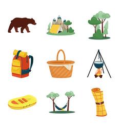Design picnic and nature logo vector