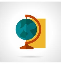 Education flat color icon vector image
