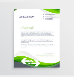 elegant green and gray letterhead design template vector image