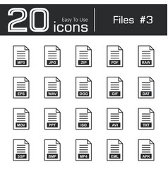 files icon set 3 vector image