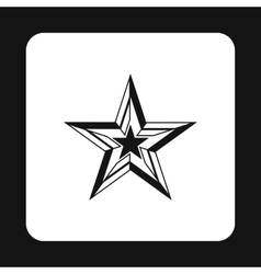 Five pointed star icon simple style vector