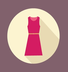 flat design with shadow Icon Women red dress vector image