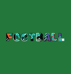football concept word art vector image