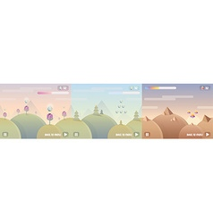 Game user interface background vector