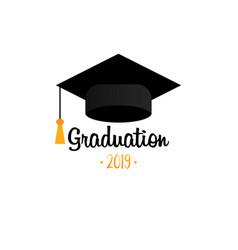 graduation cap template design elements vector image