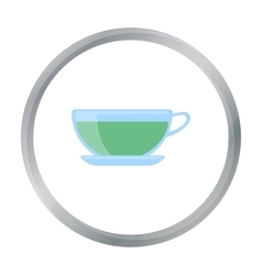 Green tea icon of for web and vector image