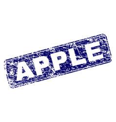 grunge apple framed rounded rectangle stamp vector image