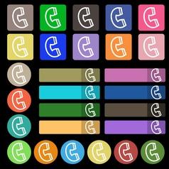 handset icon sign Set from twenty seven vector image