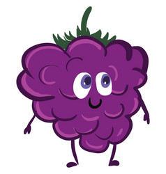 Happy blackberry or color vector