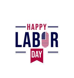 Happy labor day for american design vector