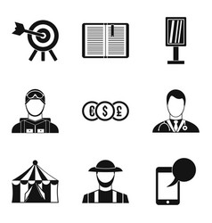 Headgear icons set simple style vector