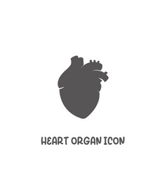 heart organ icon simple flat style vector image