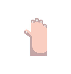 Human hand up with fingers and nails vector