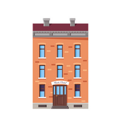 image of best hotel with roof vector image