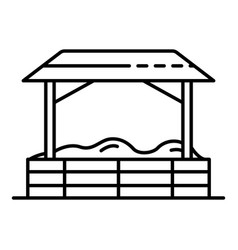 Kid playground tent icon outline style vector