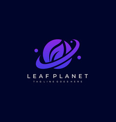 Leaf planet template vector
