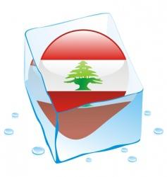 Lebanon flag vector image