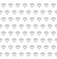 Line art diamond seamless pattern vector