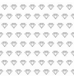 Line Art Diamond Seamless Pattern vector