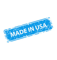made in usa stamp texture rubber cliche imprint vector image