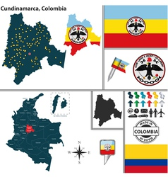Map of Cundinamarca vector
