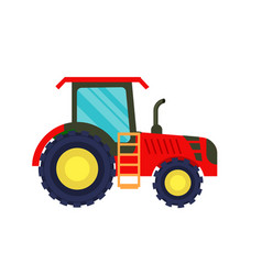 modern agriculture tractor icon vector image