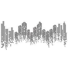 Modern city skyline city silhouette vector