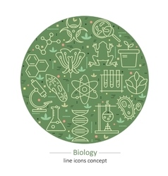 Modern thin line concepts with biology elements vector image