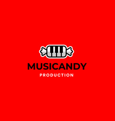 music candy logo vector image