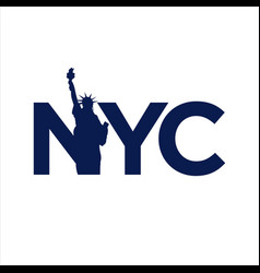 New york city abbreviation nyc lettering a modern vector