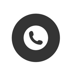 phone icon in modern style for web site and vector image