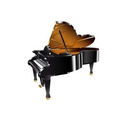Piano on white vector