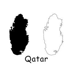 Qatar map vector