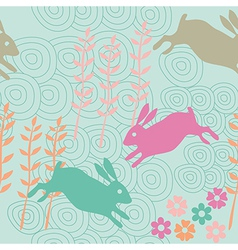 Rabbit seamless texture endless vector