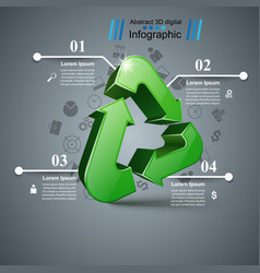 Recycle business infographic four items vector