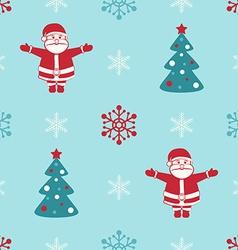 Retro christmas seamless background with santa fir vector