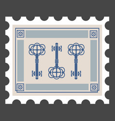 retro postage stamps on theme homes vector image