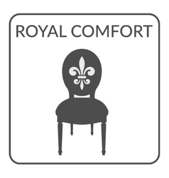Royal comfort sign vector