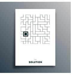 solution abstract typography vector image