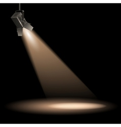 Stage lighting vector image