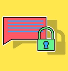 Sticker spam outline symbol on background block vector