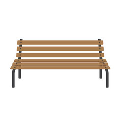 street wooden bench vector image