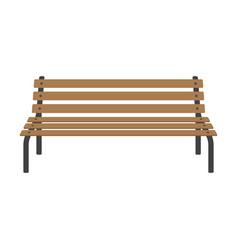 Street wooden bench vector