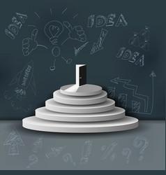The business ladder concept financial idea vector
