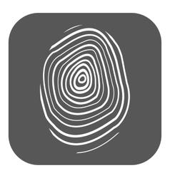 The fingerprint icon Fingerprint symbol Flat vector